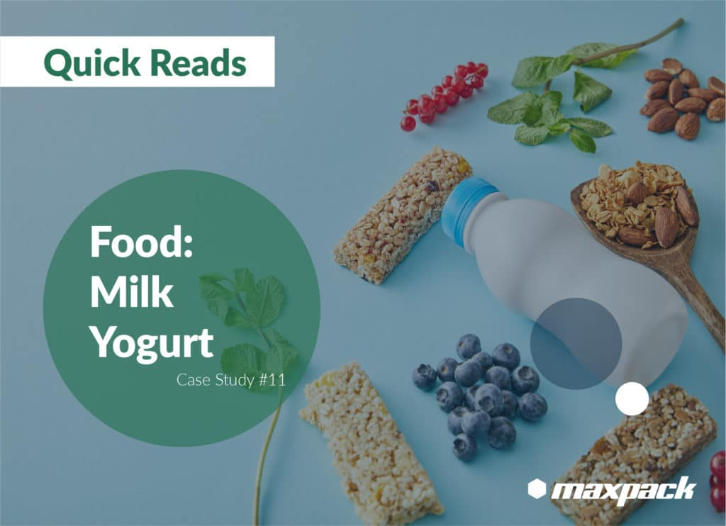 Case Study #11: Maxpack line of Rinsing, Filling, Capping, Labeling and Packaging of Plastic Bottles to Fill  with Milk Yogurt